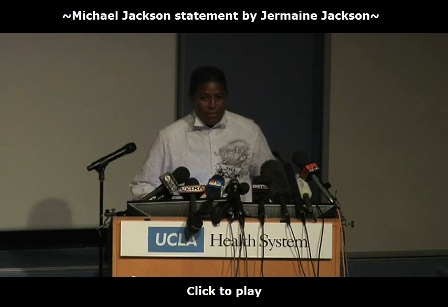 Michael Jackson dies statement by Jermaine Jackson
