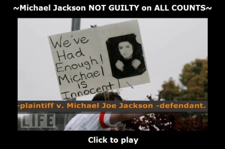 Michael Jackson not guilty on all counts