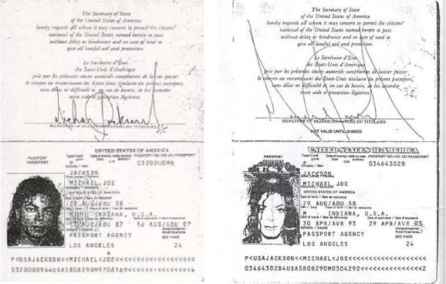 Michael Jackson's passports