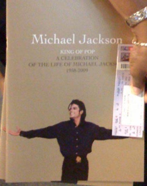Michael Jackson's memorial program