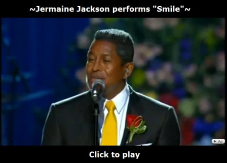 Jermaine Jackson performs Smile at Michael Jackson's memorial