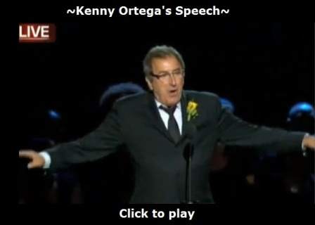 Kenny Ortega's speech at Michael Jackson's memorial