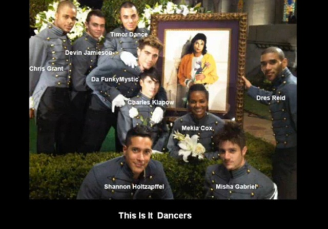 Michael Jackson's dancers at the burial