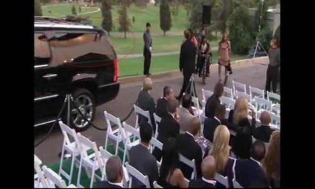 Michael Jackson's burial