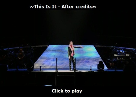 Michael Jackson's This Is It - after credits