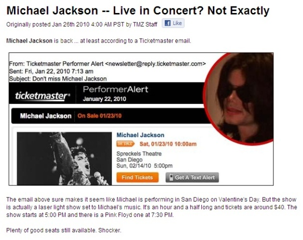 Michael Jackson live in concert