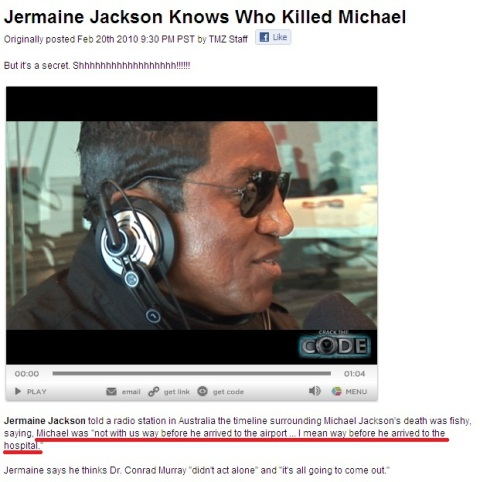 Jermaine Jackson knows who killed Michael Jackson
